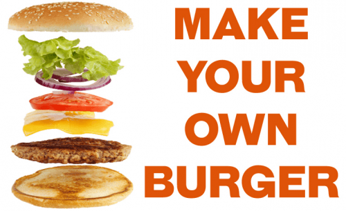 Foto Make your own burger